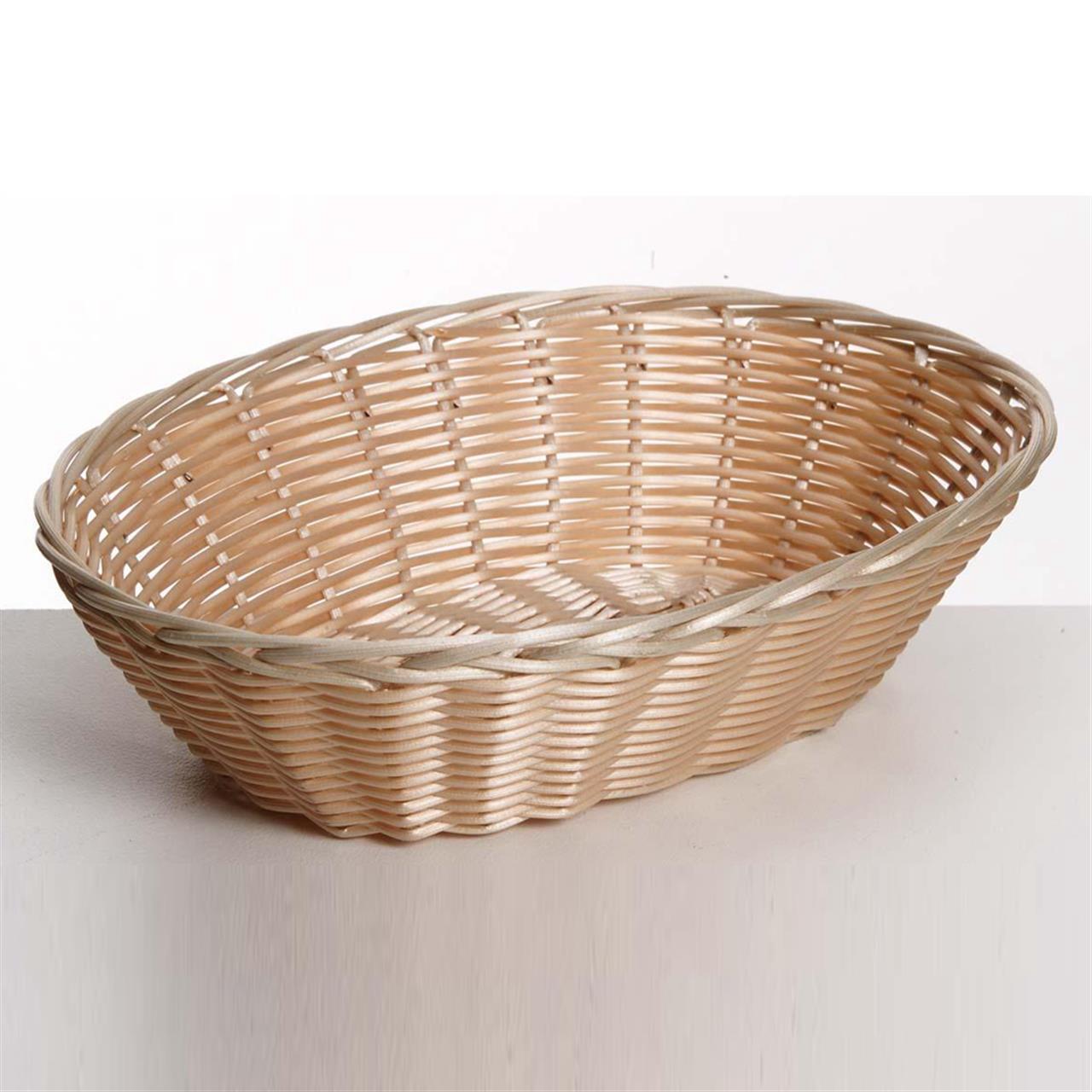 Plastic Rattan Bread Basket