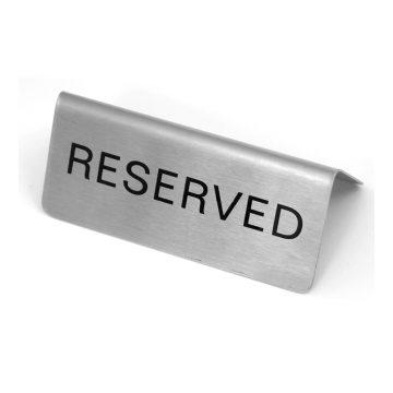 Reserved Sign A-Frame