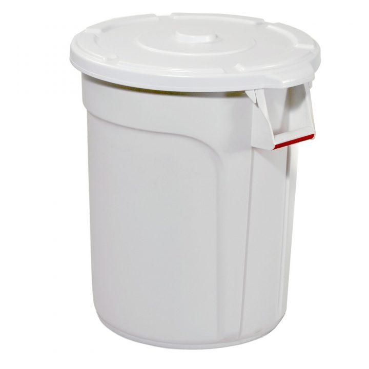 TRUST Commercial White Round Bin
