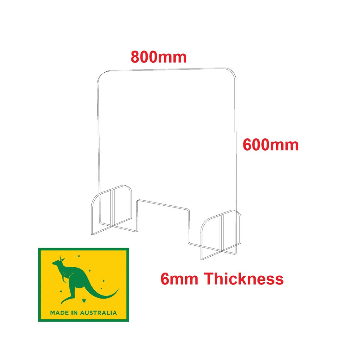 Acrylic Sneeze Guard 800 x 600mm 6mm Thick