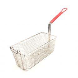15010 Rectangular Fryer Basket Red Handle