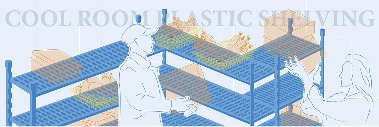 Cool Room Plastic Shelving