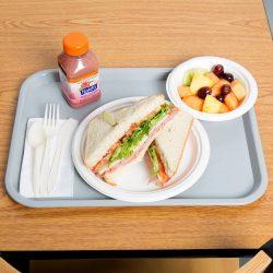 89004 Grey Fast Food Tray Lifestyle