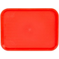 89052 Red Fast Food Tray